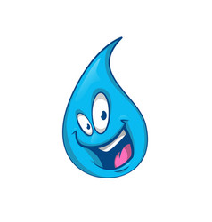 cartoon drop character cute vector image
