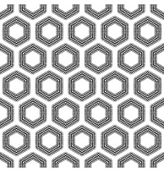 Checkered hexagons seamless pattern vector image