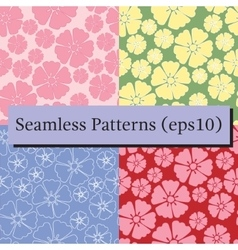 Cherry blossom sakura seamless pattern background vector