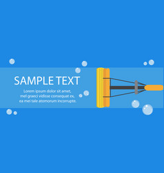 cleaning banner mop banner template for your text vector image