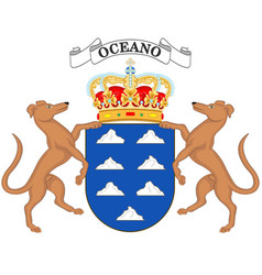 Coat arms canary islands vector