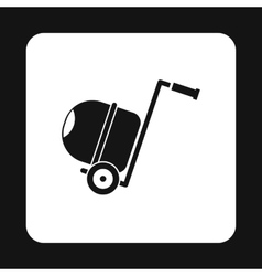 Concrete mixer icon simple style vector