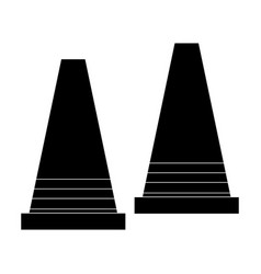 Cone construction isolated icon vector