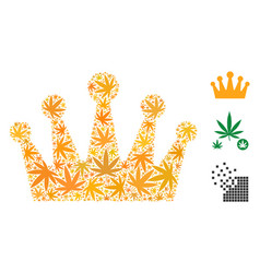 Crown mosaic of cannabis vector