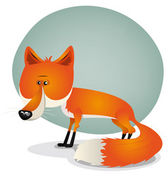 Cute fox character vector