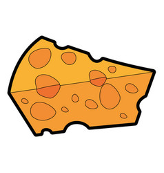 delicious piece of cheese vector image
