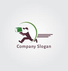 delivery logo design vector image
