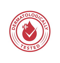dermatologically tested icon products vector image