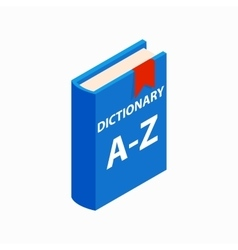 Dictionary book icon isometric 3d style vector image
