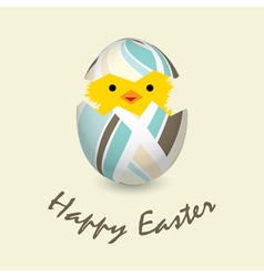 easter card with a hatching chick vector image
