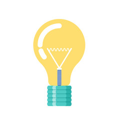 electric light bulb investment new idea vector image