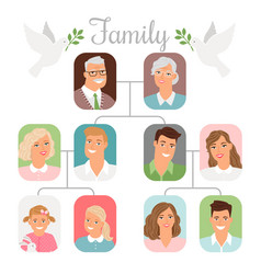 family photo tree vector image