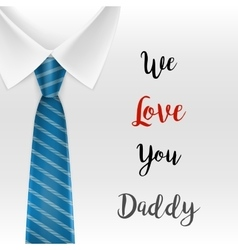 Fathers day greeting card eps 10 vector