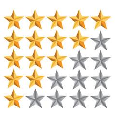 five star ranking vector image