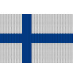 flag of finland on knitted woolen texture vector image