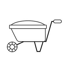 garden wheelbarrow isolated icon vector image