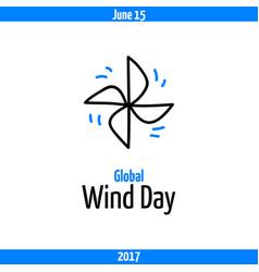 Global wind day 2017 june 15 vector