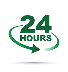 Green 24 hours vector