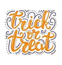 Greeting card for halloween celebration trick or vector