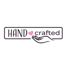 Hand crafted gifts shop isolated icon heart vector