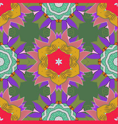 hand-drawn mandala colored abstract pattern on a vector image