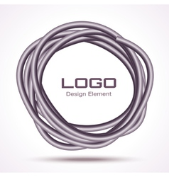 Hand Drawn Thick Ware Circle logo design element vector image
