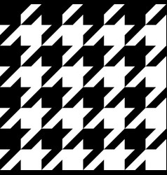 Houndstooth seamless black and white patter vector