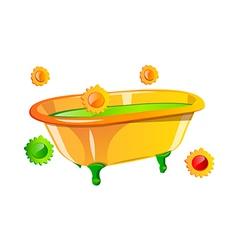 Icon bathtub vector