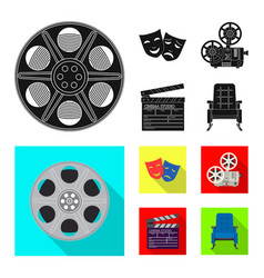 isolated object of television and filming icon vector image