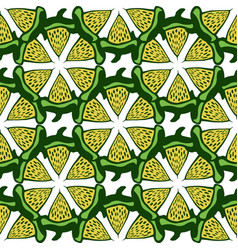 lime background green seamless pattern hand vector image