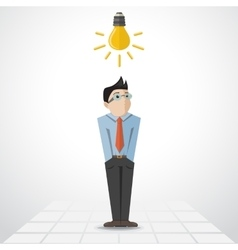 man with lamp vector image