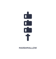 Marshmallow icon on white background simple vector