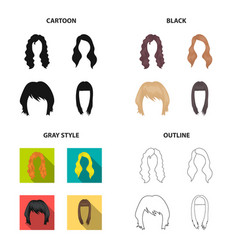 Model style wig and other web icon in different vector