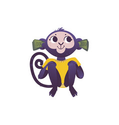 monkey dont hear because of vector image