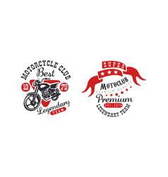 motorcycle club best legendary team retro logo vector image