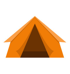 orange touristic camping tent icon isolated vector image