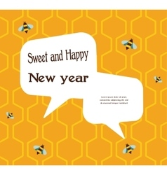 Pattern of the bee on honeycombs background for vector