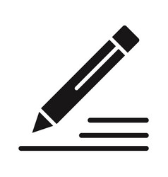pencil icon edit sign vector image