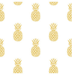 Pineapple golden vector