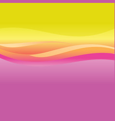 Pink and orange abstract waves vector