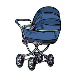 pram bacarriage stroller perambulator buggy vector image