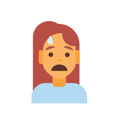 profile icon female emotion avatar woman cartoon vector image
