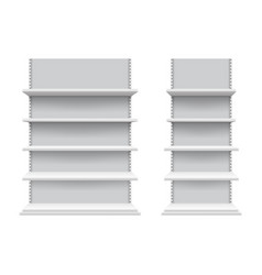 realistic shelves mockup isolated store shelving vector image