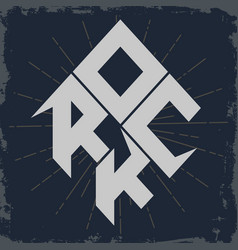Rock lettering vector