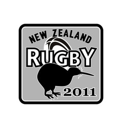 Rugby ball kiwi new zealand 2011 vector