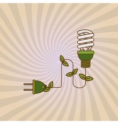 Save Energy icon design vector image