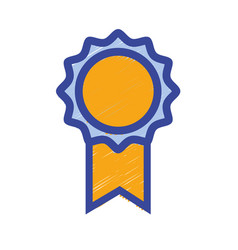 School medal symbol to intelligent student vector