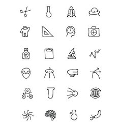 Science Hand Drawn Doodle Icons 4 vector image