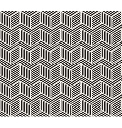 Seamless Black And White Zig Zag Lines vector image