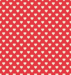 Seamless pattern red with hearts vector image